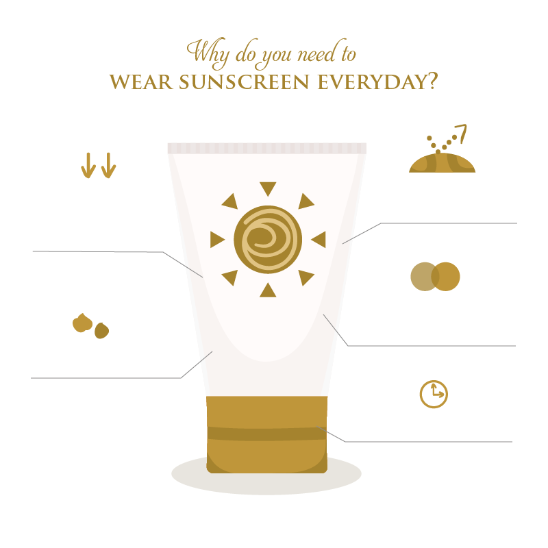 Infographic on why sunscreen is important every day