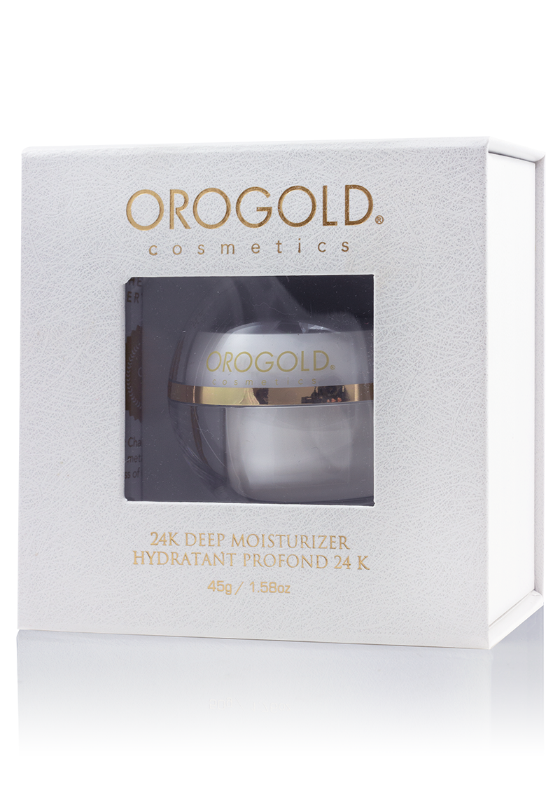 OROGOLD White Gold 24K Deep Moisturizer in its case