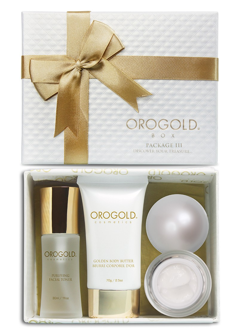 Orogold Package 3 Box open