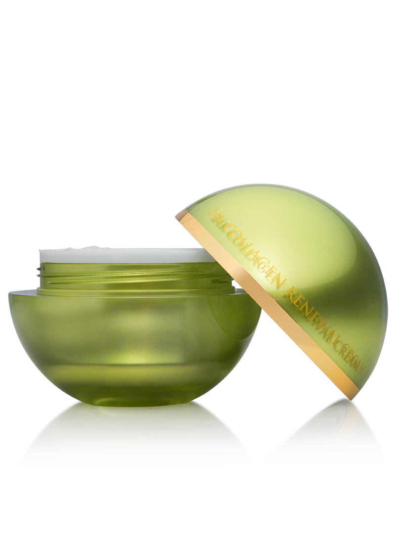OROGOLD 24K Collagen Renewal Cream opened side