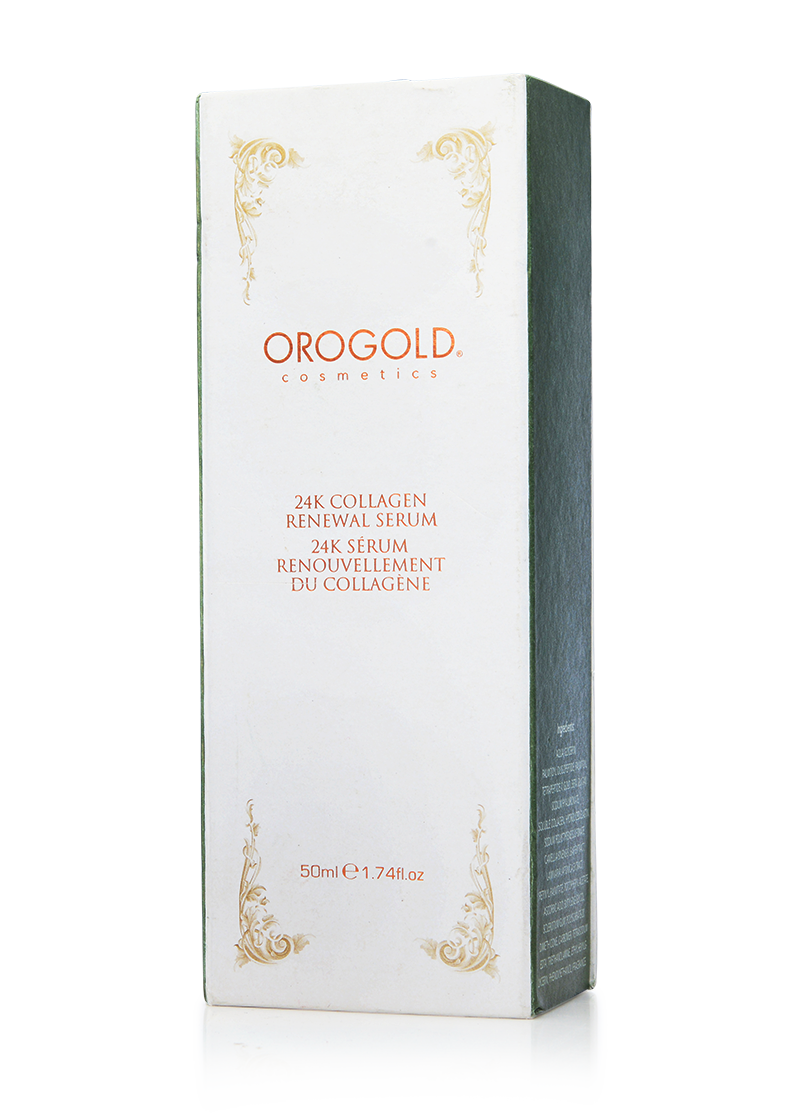 OROGOLD 24K Collagen Renewal Serum front of box