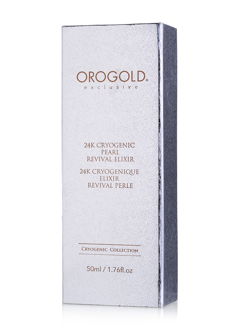 OROGOLD Exclusive 24K Cryogenic Pearl Revival Elixir front of box