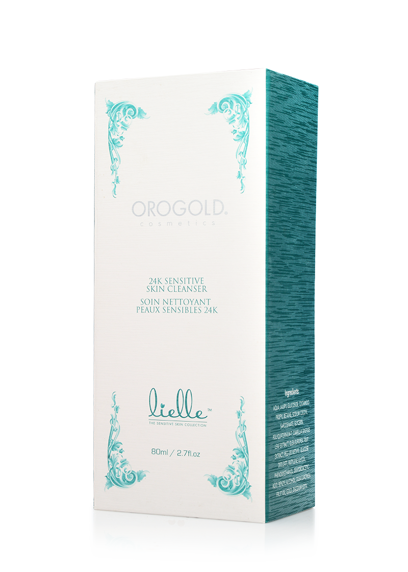 OROGOLD Lielle 24K Sensitive Skin Cleanser box
