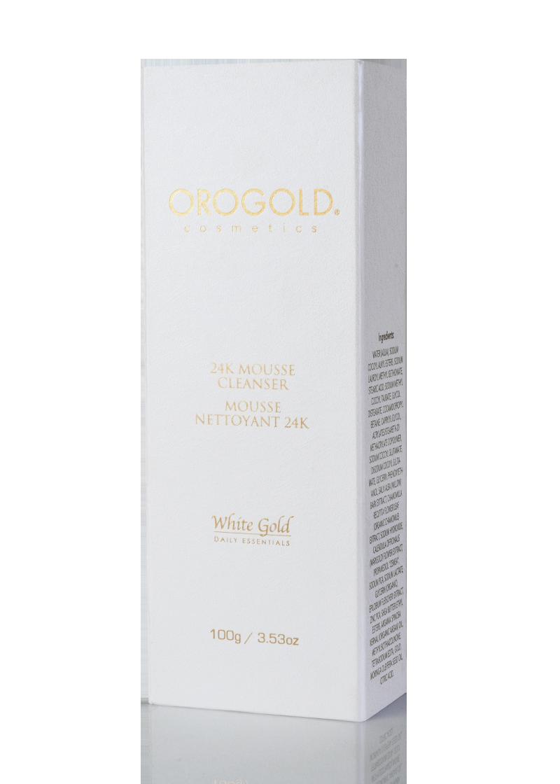 OROGOLD White Gold 24K Mousse Cleanser box
