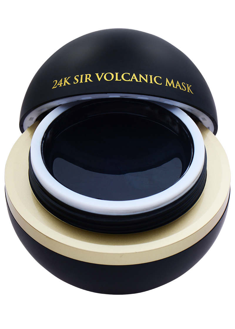Orogold Exclusive 24K Sir Volcanic Mask open front