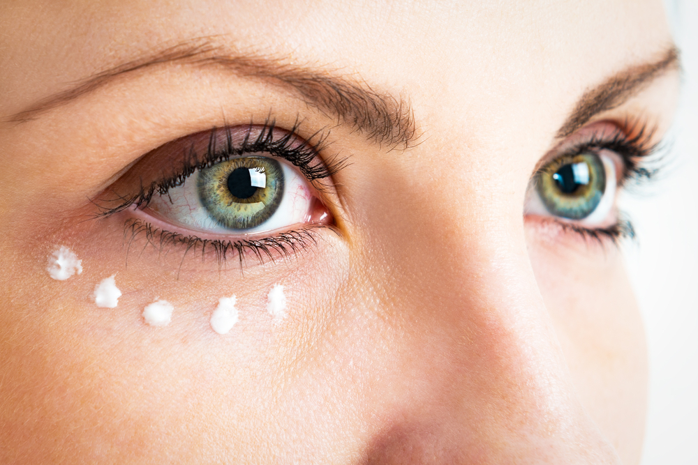 Eye Cream Dotted Under Eye