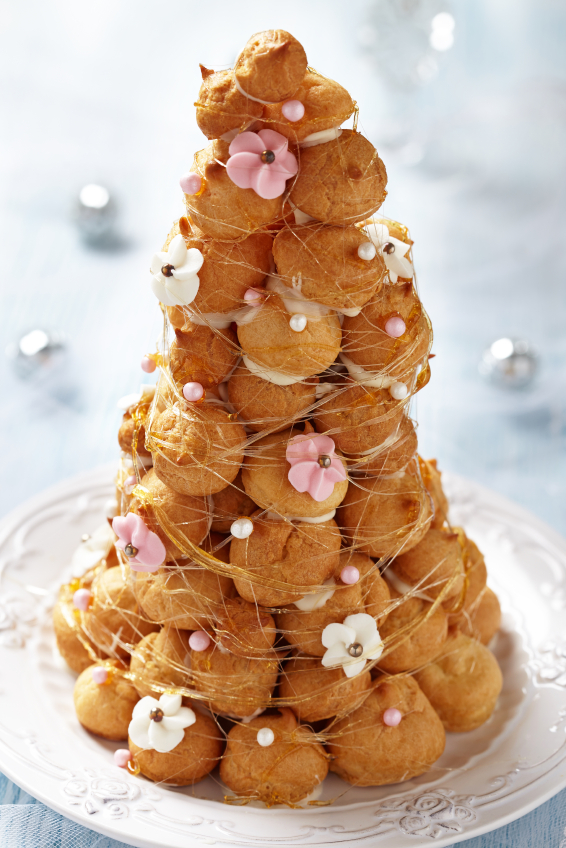 Croquembouche towers of sweet indulgence
