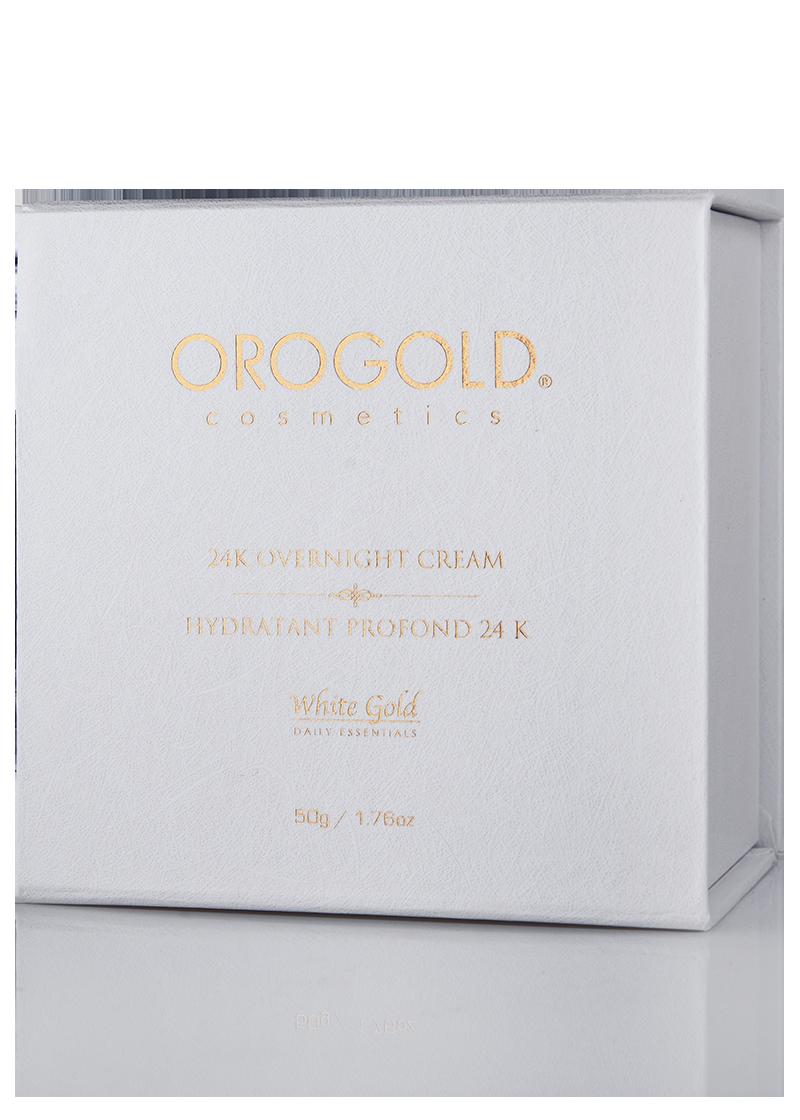 White Gold 24k Overnight Cream Box front