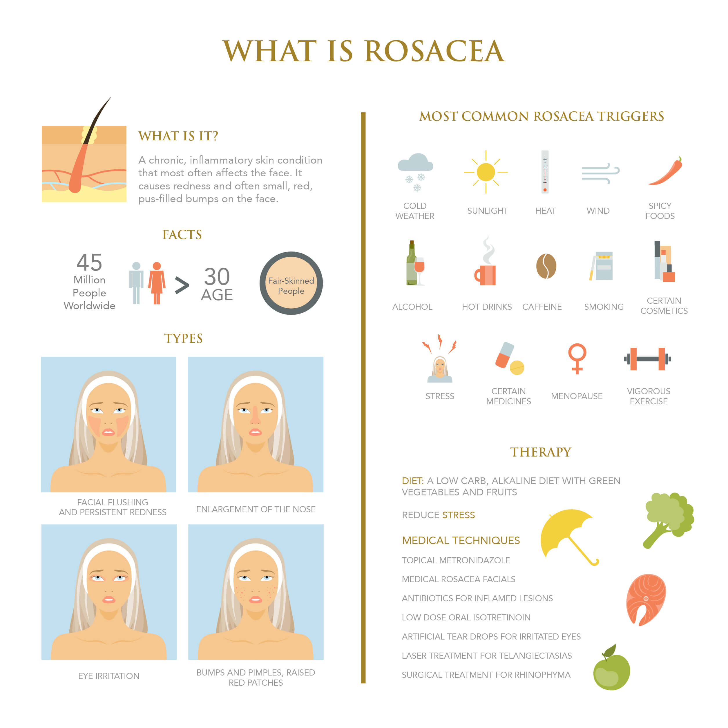 Infographic on rosacea
