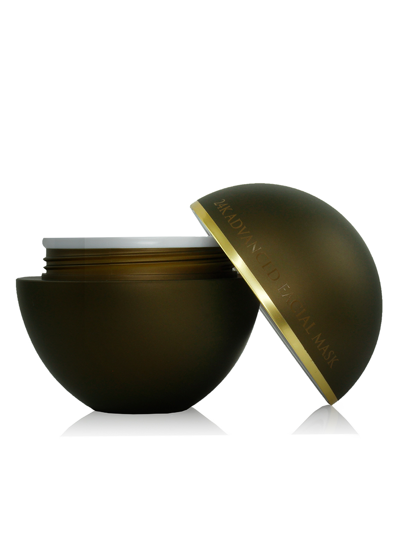 24K Advanced Facial Mask with open lid