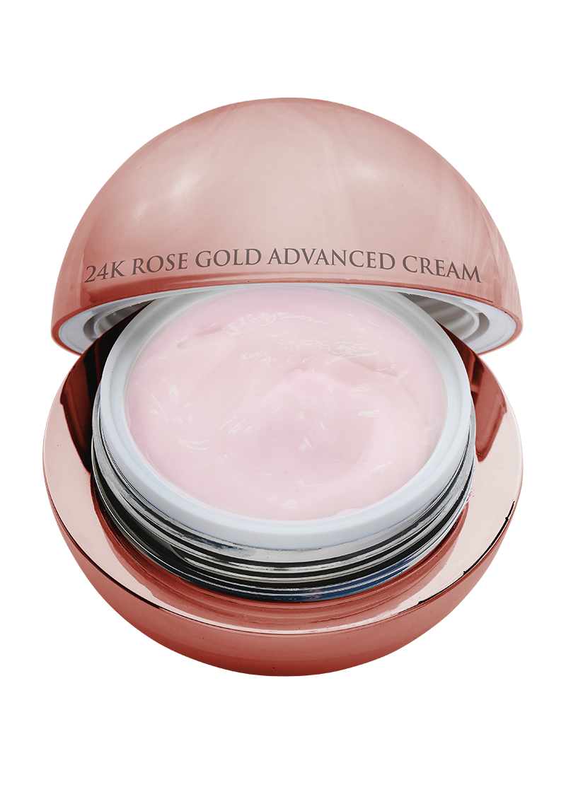 24K Rose Gold Advanced Cream top view