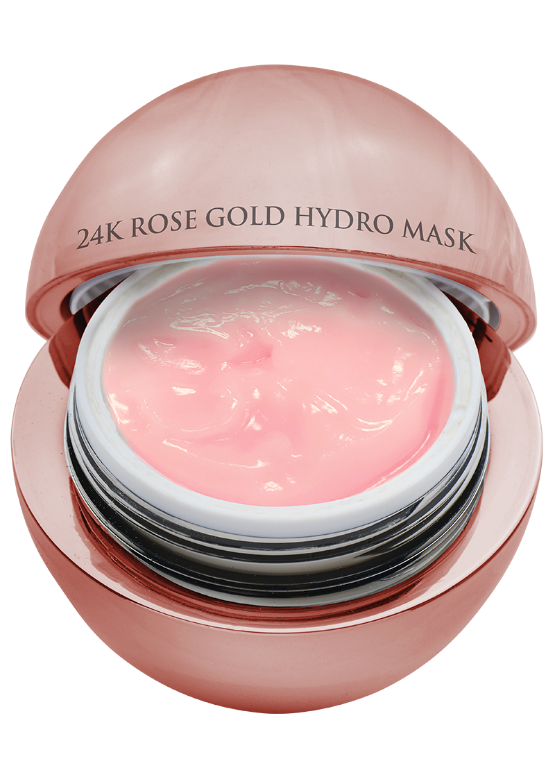 24K Rose Gold Hydro Mask top view