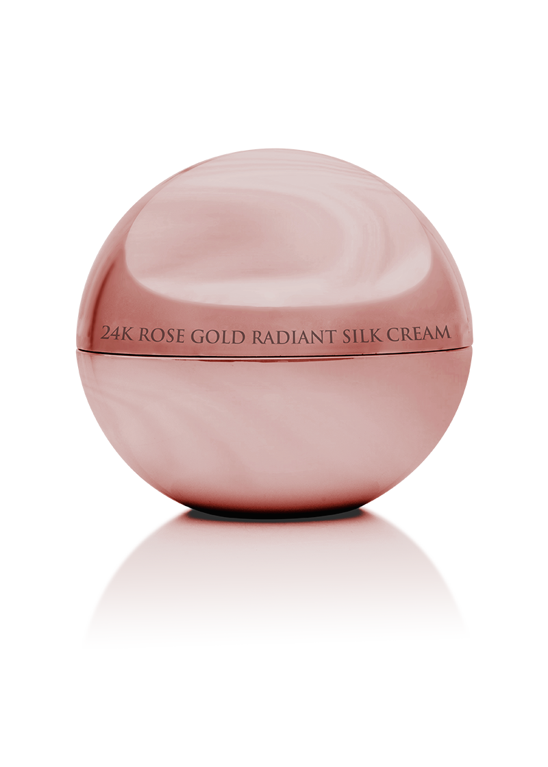 24K Rose Gold Radiant Silk Cream details