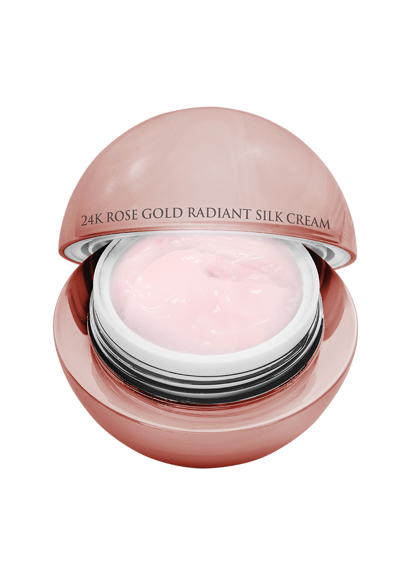 24K Rose Gold Radiant Silk Cream top view