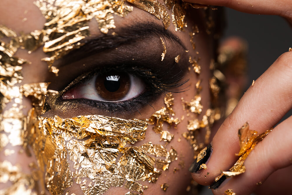 Cleopatra with gold mask