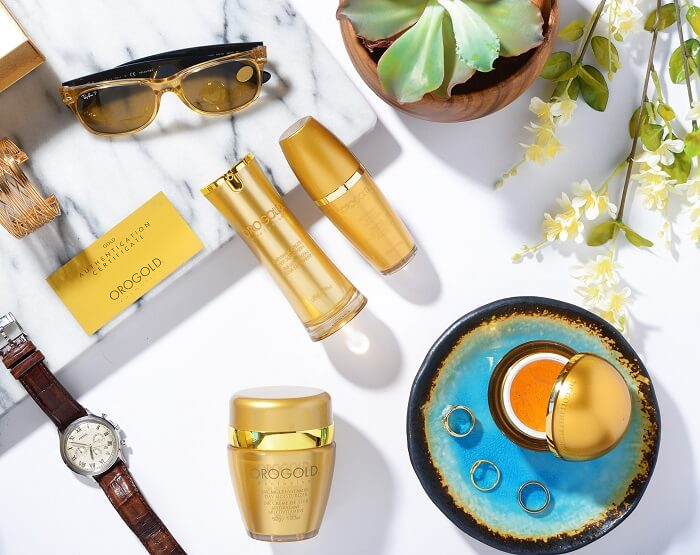OROGOLD skincare products for summer