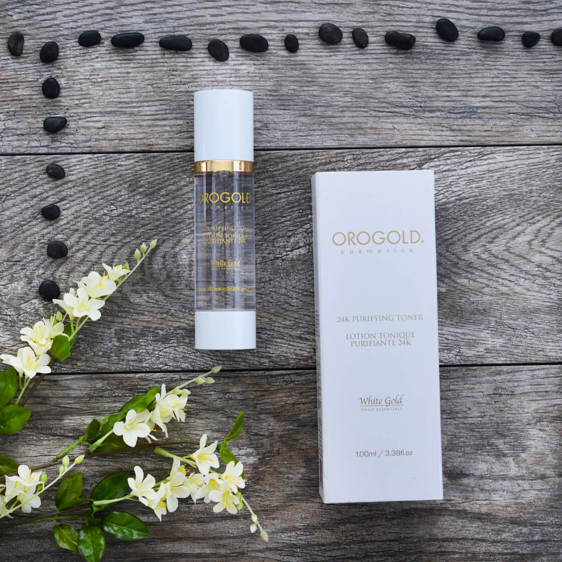 Toner with cosmetic gold - gold-infused skincare